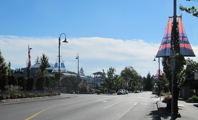 photo of the main street of Comox
